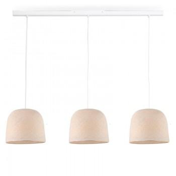 Rail blanc 3 cloches écru - Luminaire sur rail - La Case de Cousin Paul
