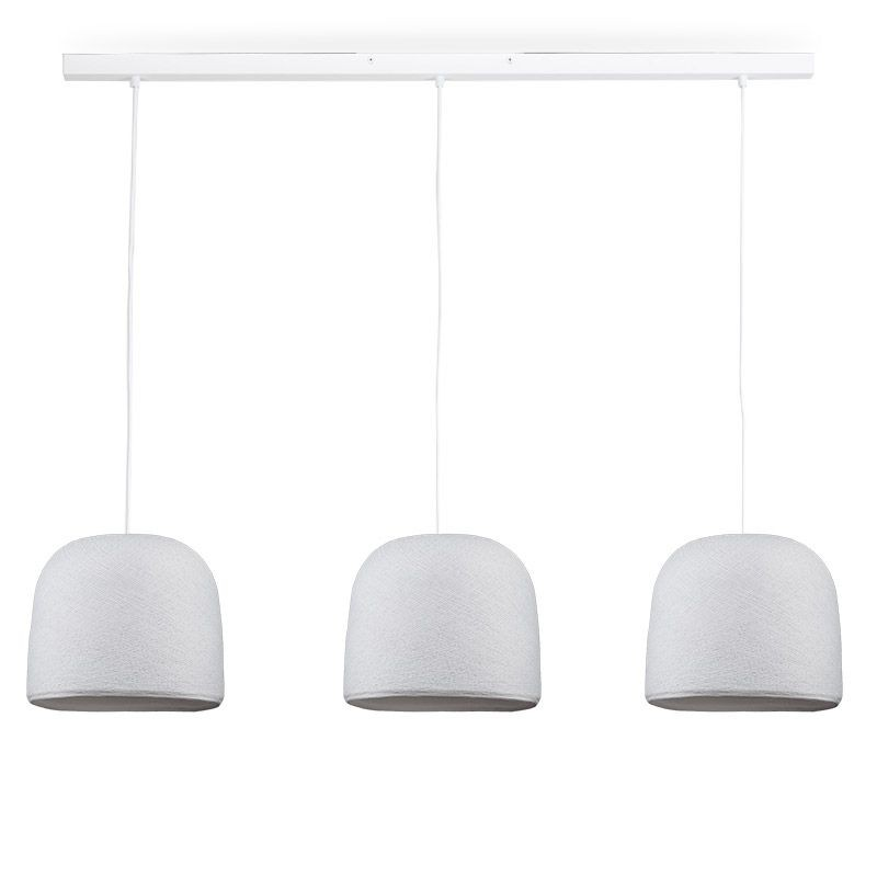 Rail blanc 3 cloches blanc - Luminaire sur rail - La Case de Cousin Paul