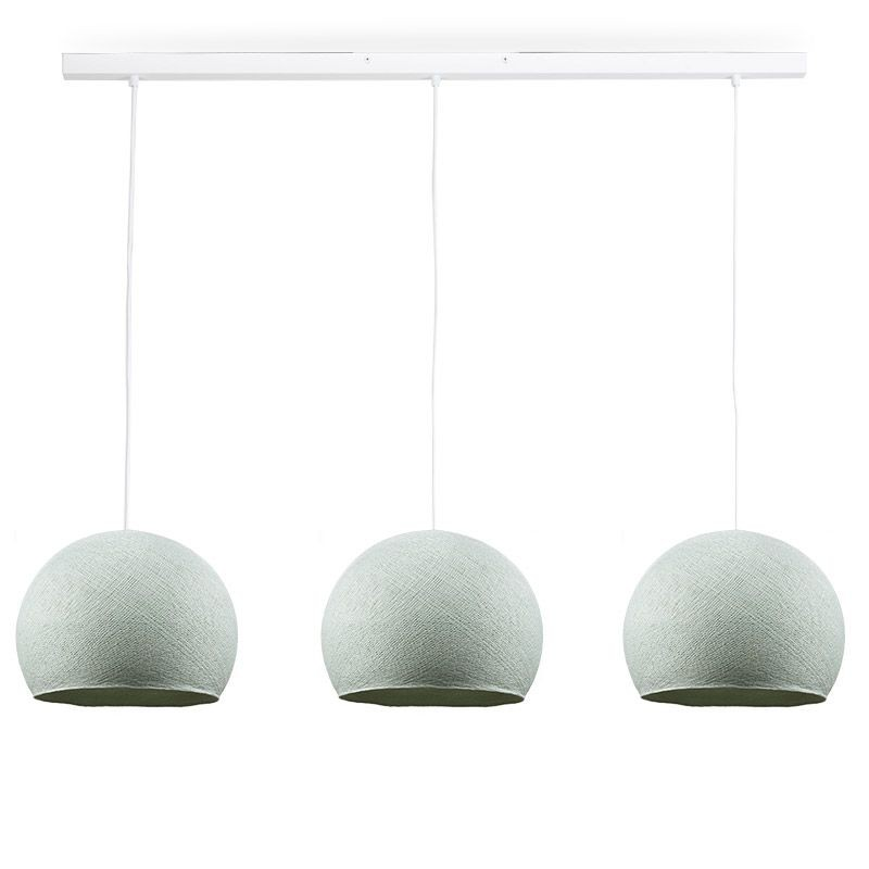 Rail white 3 azure cupolas S - The Island Pendant - La Case de Cousin Paul