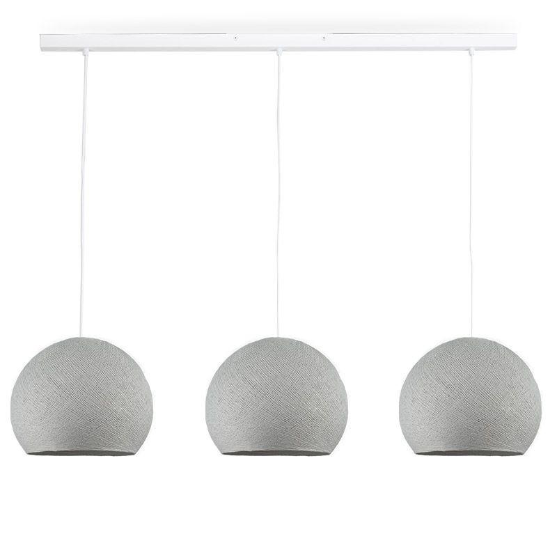 Rail wit 3 koepellamp S parelgrijs - The Island Pendant - La Case de Cousin Paul