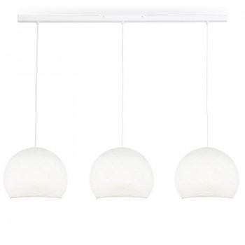 Rail blanc 3 coupoles S blanc - Luminaire sur rail - La Case de Cousin Paul