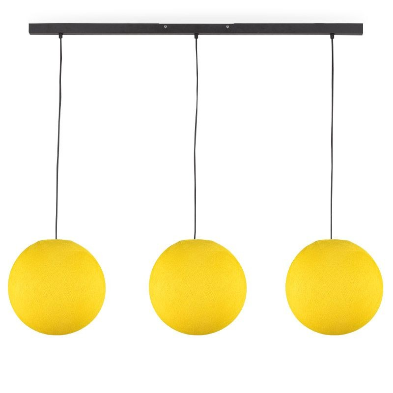 """Rail"" 3 yellow globes S - The Island Pendant - La Case de Cousin Paul"