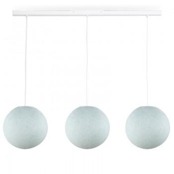 Rail blanc 3 globes S azur - Accueil - La Case de Cousin Paul