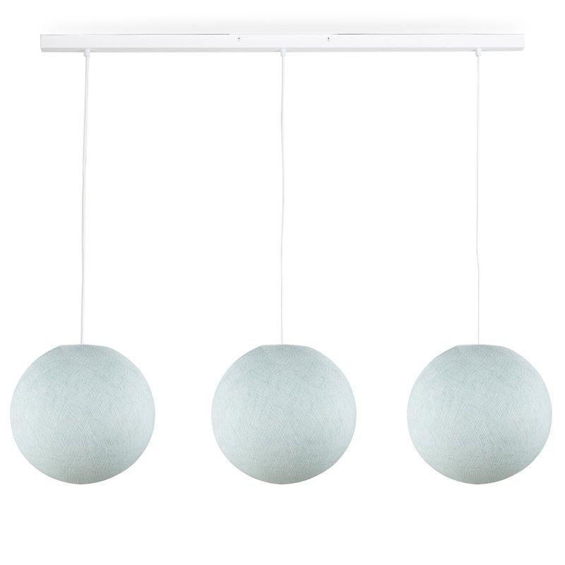 Rail blanc 3 globes S azur - Luminaire sur rail - La Case de Cousin Paul