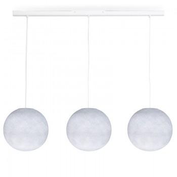 Rail blanc 3 globes S blanc - Luminaire sur rail - La Case de Cousin Paul