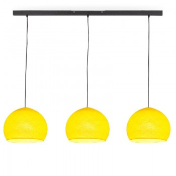 Rail gris anthracite 3 coupoles S jaune - Luminaire sur rail - La Case de Cousin Paul