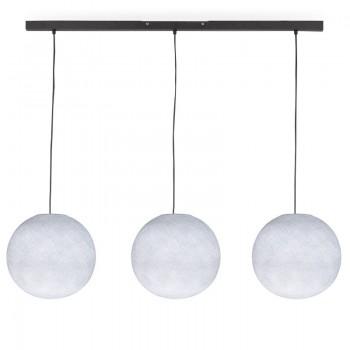 Rail gris anthracite 3 globes S blanc - Luminaire sur rail - La Case de Cousin Paul