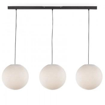 Rail gris anthracite 3 globes S écru - Luminaire sur rail - La Case de Cousin Paul