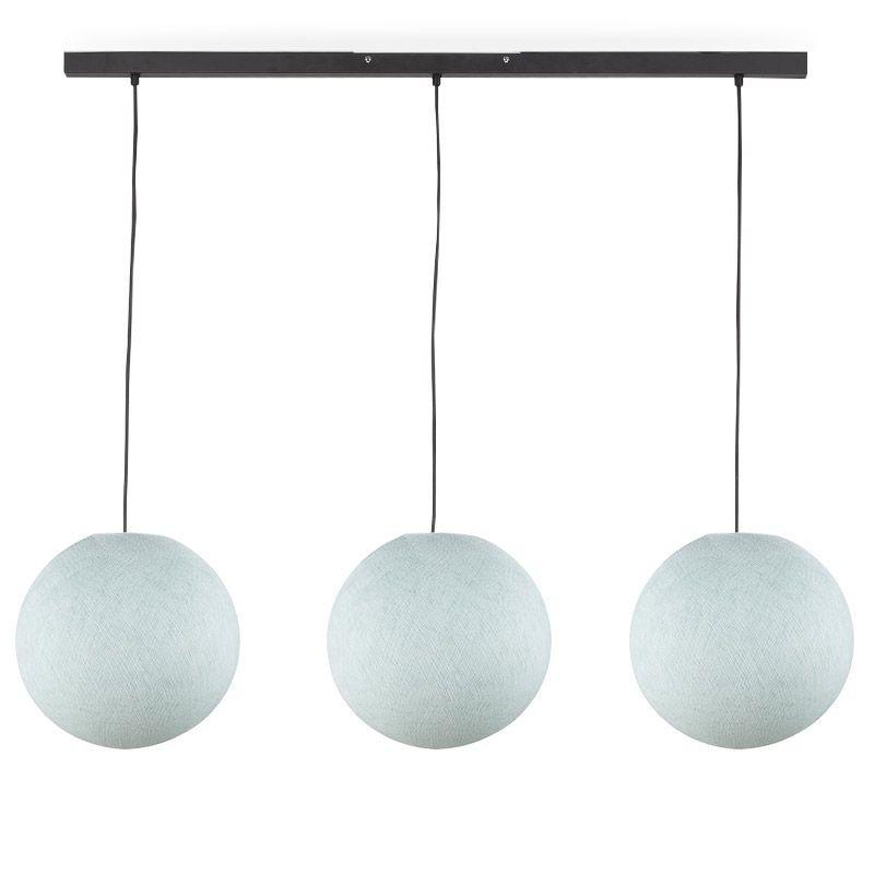 Rail gris anthracite 3 globes S azur - Luminaire sur rail - La Case de Cousin Paul