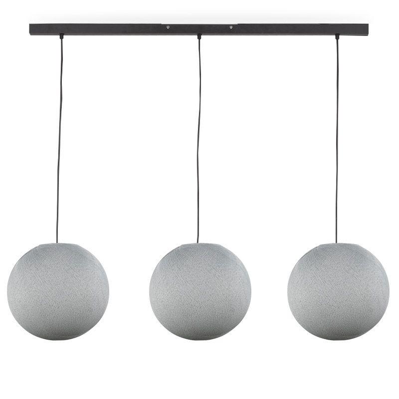 """""""Rail"""" 3 sfere S grigio perla - The Island Pendant - La Case de Cousin Paul"""