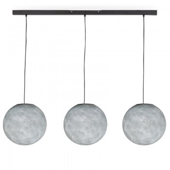 """Rail"" 3 globos S gris perla - The Island Pendant - La Case de Cousin Paul"