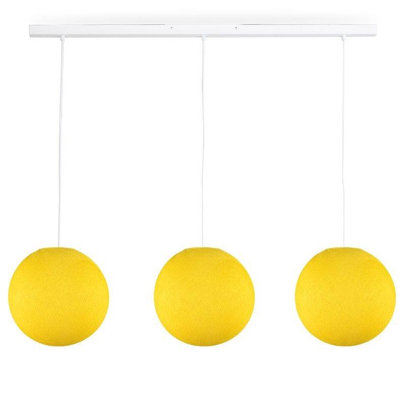Rail bianco 3 sfere S giallo - The Island Pendant - La Case de Cousin Paul