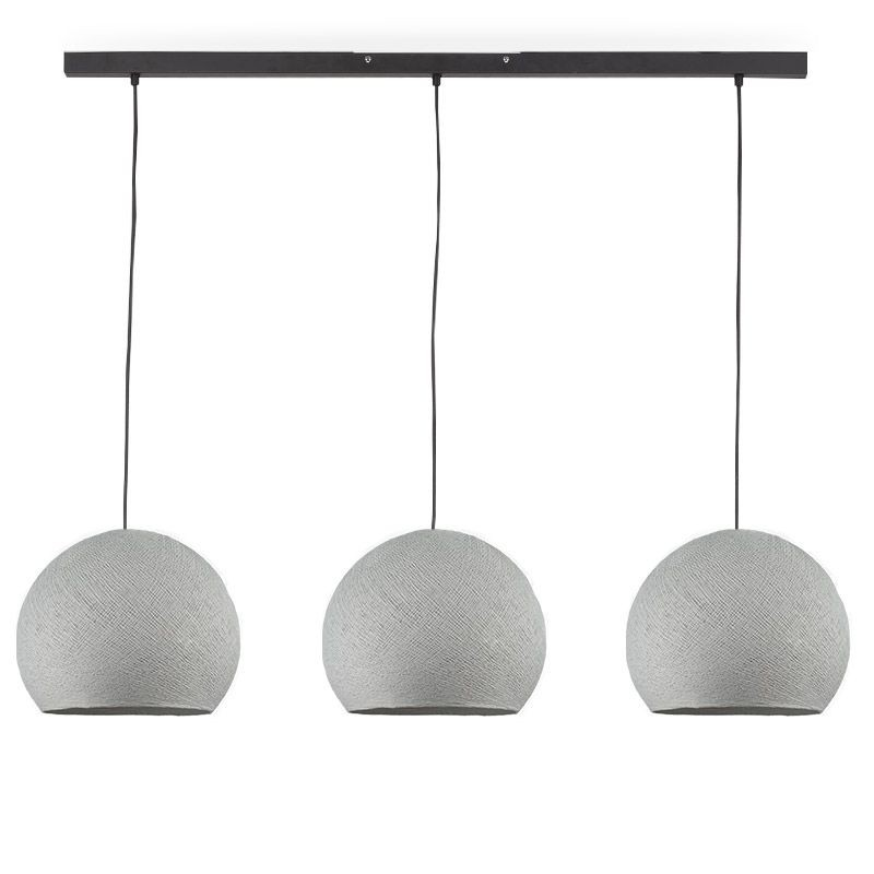 Rail gris anthracite 3 coupoles S gris perle - Luminaire sur rail - La Case de Cousin Paul