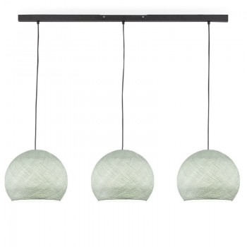 Rail gris anthracite 3 coupoles S gris perle - Luminaire sur rail - La Case de Cousin Paul
