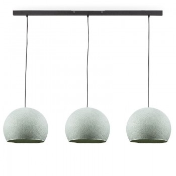 Rail gris anthracite 3 coupoles S azur - Luminaire sur rail - La Case de Cousin Paul
