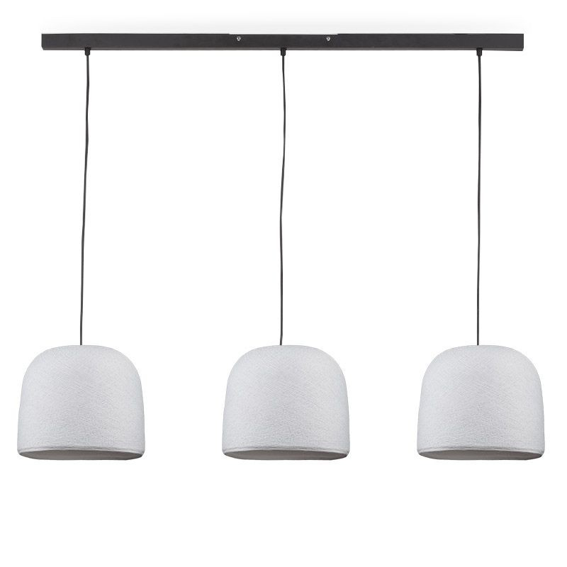 Rail gris anthracite 3 cloches blanc - Luminaire sur rail - La Case de Cousin Paul