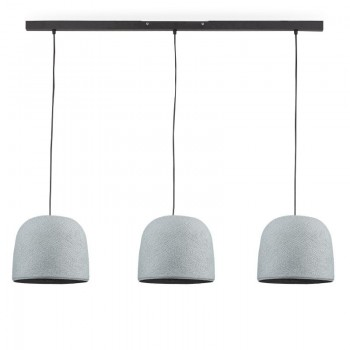 """Rail"" 3 Cloche grigio perla - The Island Pendant - La Case de Cousin Paul"