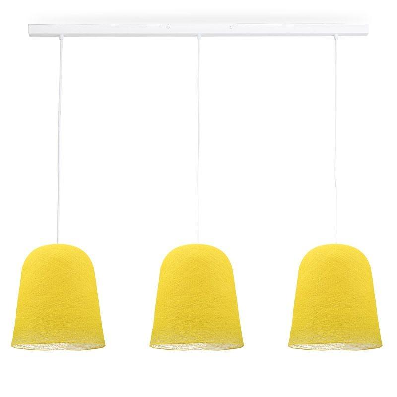 Rail white 3 yellow Jupe - The Island Pendant - La Case de Cousin Paul