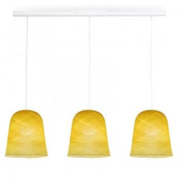 Rail blanc 3 jupes jaune - Luminaire sur rail - La Case de Cousin Paul