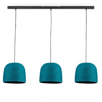 """Rail"" 3 duck blue Cloche - The Island Pendant - La Case de Cousin Paul"