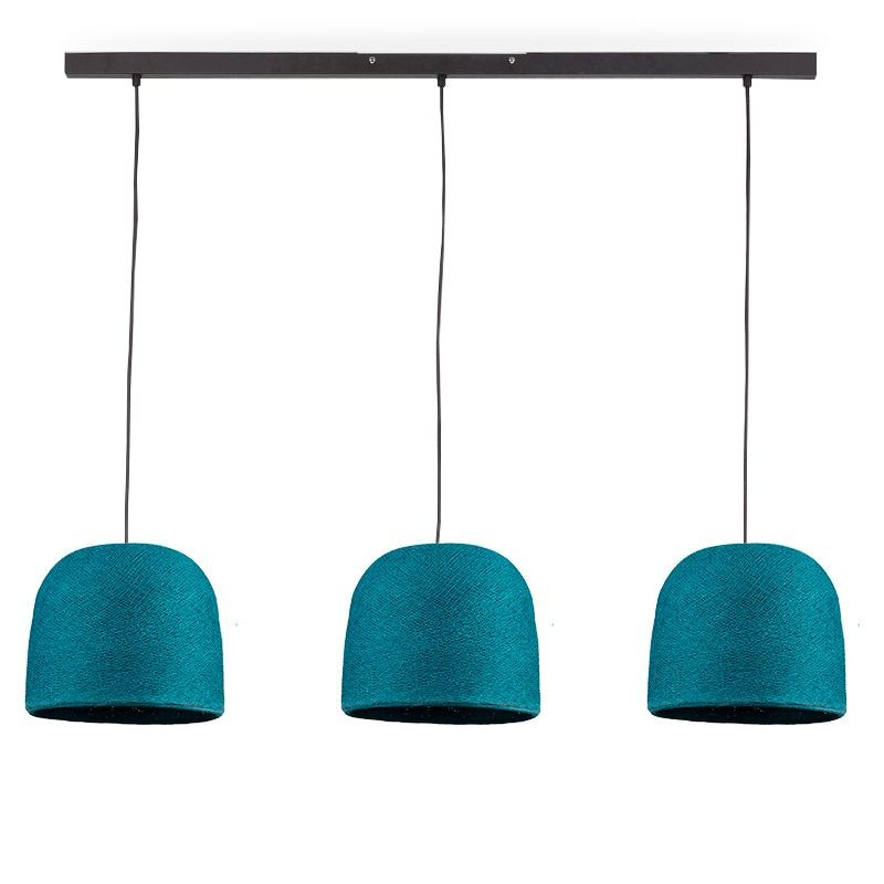 """Rail"" 3 Cloche Eendenblauw - The Island Pendant - La Case de Cousin Paul"