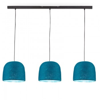 """Rail"" 3 Cloche Azul Pato - The Island Pendant - La Case de Cousin Paul"