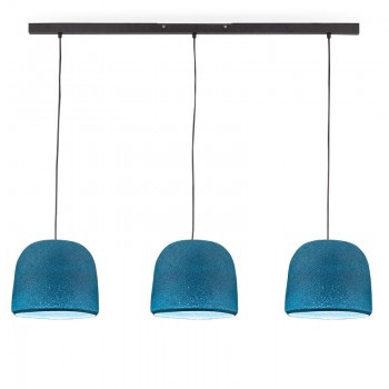 Rail gris anthracite 3 cloches denim - Luminaire sur rail - La Case de Cousin Paul