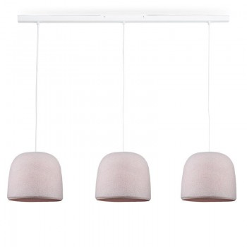 Rail bianco 3 Cloche Confetto - The Island Pendant - La Case de Cousin Paul