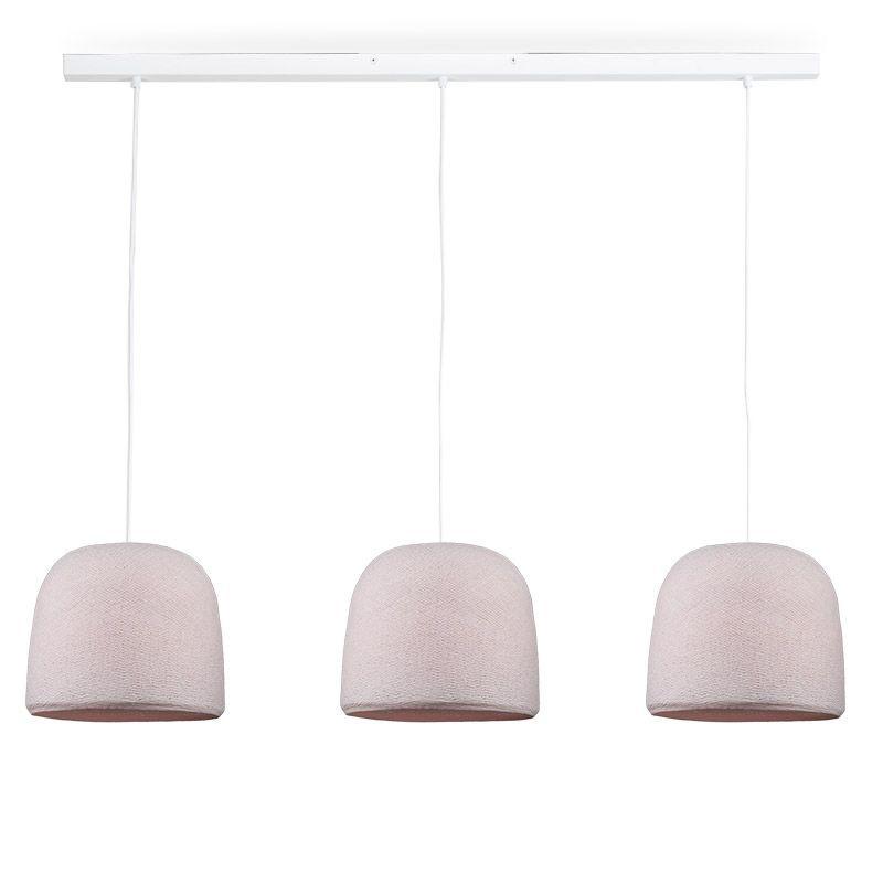Rail blanc 3 cloches dragee - Luminaire sur rail - La Case de Cousin Paul