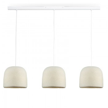 Rail blanco 3 Cloche Marfil - The Island Pendant - La Case de Cousin Paul