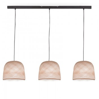 Rail gris anthracite 3 cloches Lin - Luminaire sur rail - La Case de Cousin Paul