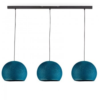 """Rail"" 3 duck blue cupolas S - The Island Pendant - La Case de Cousin Paul"