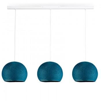 Rail white 3 duck blue cupolas S - The Island Pendant - La Case de Cousin Paul