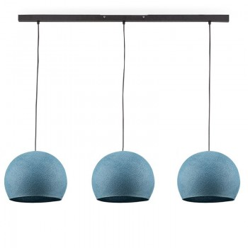 Rail gris anthracite 3 coupoles S denim - Luminaire sur rail - La Case de Cousin Paul