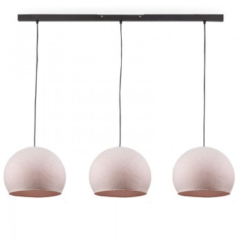 """Rail"" 3 Sugared almond cupolas S - The Island Pendant - La Case de Cousin Paul"
