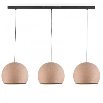 """Rail"" 3 Linen cupolas S - The Island Pendant - La Case de Cousin Paul"