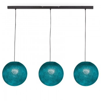 """Rail"" 3 Duck blue globes S - The Island Pendant - La Case de Cousin Paul"