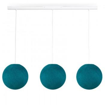 Rail blanco 3 globos S Azul Pato - The Island Pendant - La Case de Cousin Paul