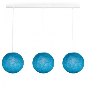 Rail blanc 3 globes S Denim - Luminaire sur rail - La Case de Cousin Paul