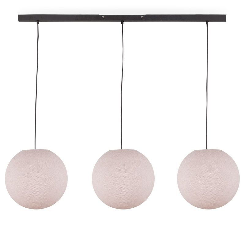 """Rail"" 3 Sugared almond globes S - The Island Pendant - La Case de Cousin Paul"