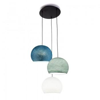 Plafoniera 3 cupole S - bianco - blu - Anatra blu - Plafonnier 3 - La Case de Cousin Paul