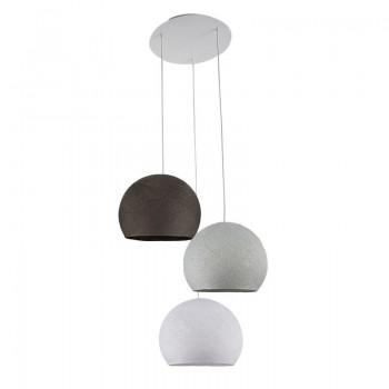 Ceiling fixture 3 cupolas S - White - Pearl Gray - Graphite - Plafonnier 3 - La Case de Cousin Paul