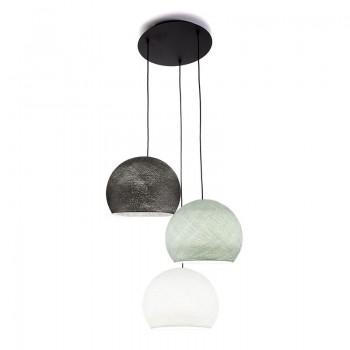 Lámpara de techo 3 cúpulas S - Blanco - Gris Perla - Grafito - Techo 3 - La Case de Cousin Paul