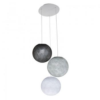 Plafondbevestiging 3 ballampen S Wit - Parelgrijs - Grafiet - Plafonnier 3 - La Case de Cousin Paul
