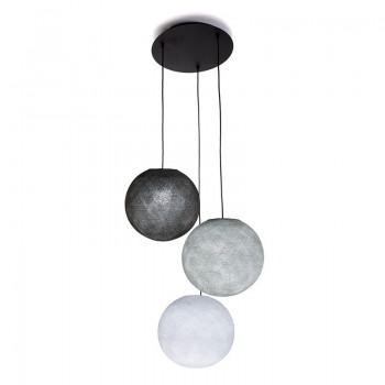 Lámpara de techo 3 globos S - Blanco - Gris Perla - Grafito - Lámpara de techo 3 - La Case de Cousin Paul