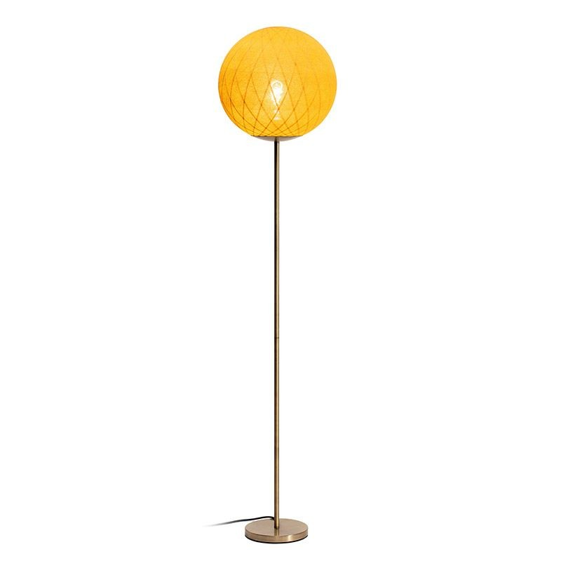 "Vloerlamp ""Art Deco"" mosterd - Vloerlamp - La Case de Cousin Paul"