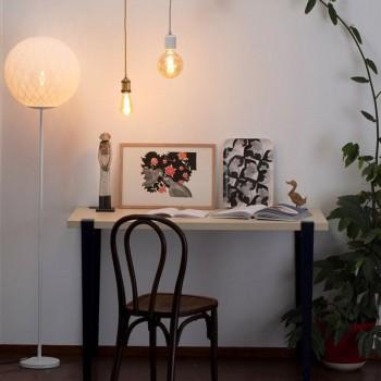 """Vloerlamp """"Art Deco"""" wit - Vloerlamp - La Case de Cousin Paul"""