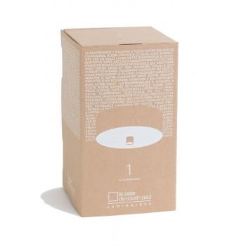 Colgante 1 blanco mate con cable tejido gris - Accesorios para lamparas - La Case de Cousin Paul