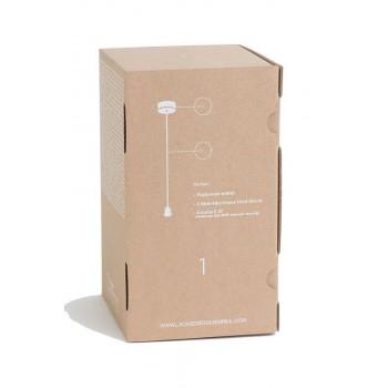 Suspension 1 blanc mat fil tissé gris - Accessoires luminaires - La Case de Cousin Paul
