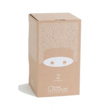 Ophangsysteem 2 matte witte met grijze geweven kabel - Accessoires voor verlichting - La Case de Cousin Paul